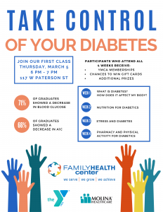 Cancelled - Diabetes Management Courses @ Family Health Center - Paterson